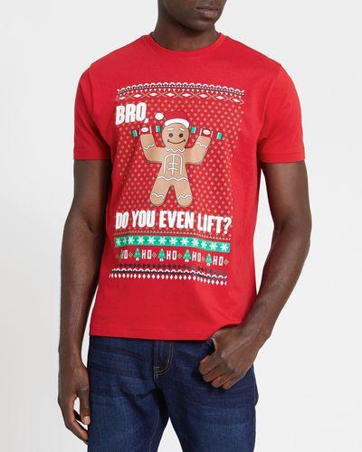 Regular Fit Gingerbread Man Christmas T-Shirt