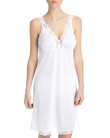 white Full Lace Trim Slip