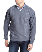 sky Regular Fit Jacquard Jumper