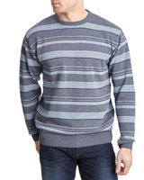 light-blue Regular Fit Striped Jumper