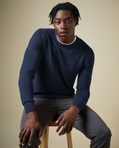 Merino Blend Crew Neck Jumper thumbnail