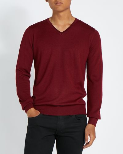 Merino Blend V-Neck Jumper thumbnail