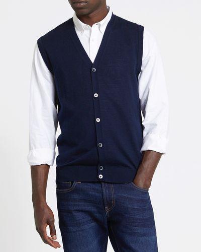 Merino Blend Button Through Vest