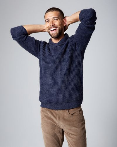 Textured Shawl Neck Jumper thumbnail