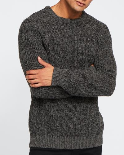 Ribbed Knit Crew Neck Jumper