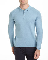 blue Regular Fit Knitted Polo