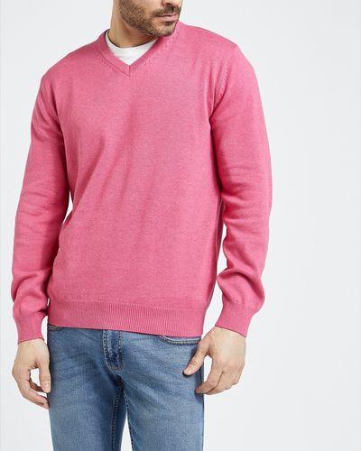 Regular Fit Cotton V-Neck Jumper thumbnail