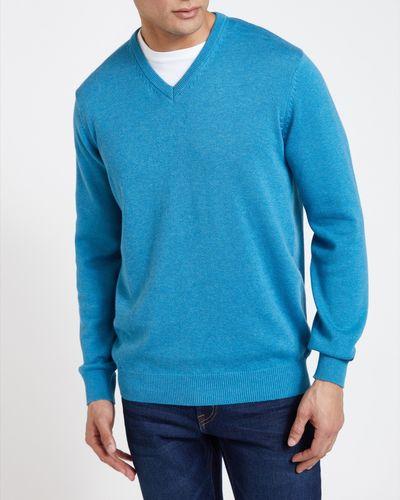Regular Fit Cotton V-Neck Jumper
