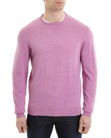 fuchsia Regular Fit Cotton Viscose Crew-Neck Jumper