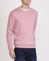 pink Regular Fit Cotton Viscose Crew-Neck Jumper