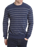 denim Regular Fit Breton Stripe Crew-Neck Jumper