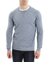 denim Crew Neck Knitted Jumper