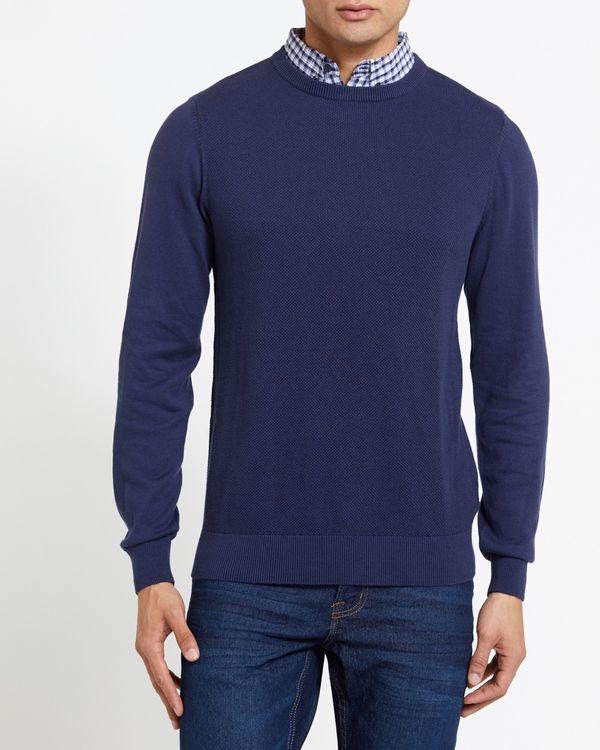 Textured Mock Shirt Jumper