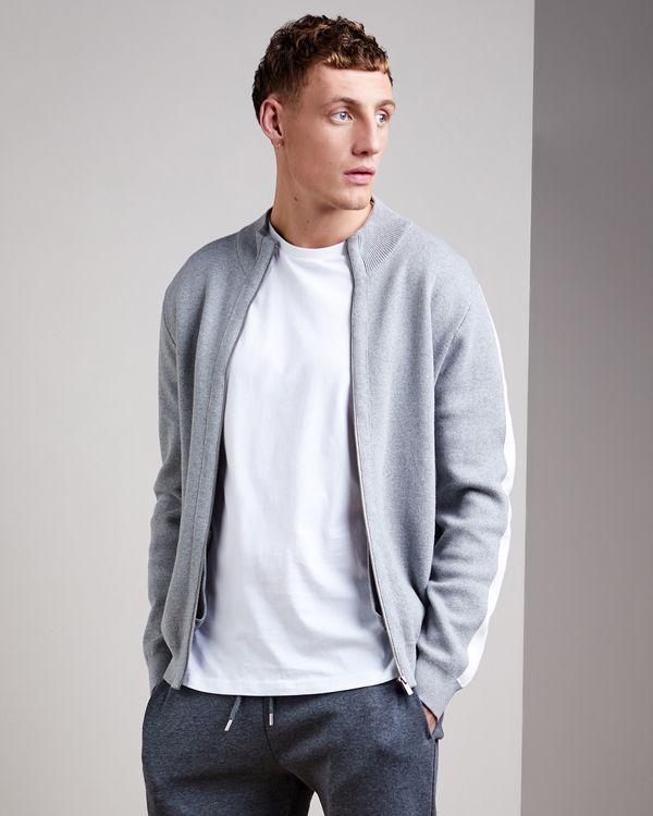 Knitted Zip-Through Cardigan