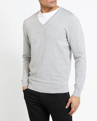 Nylon Viscose V-Neck Jumper