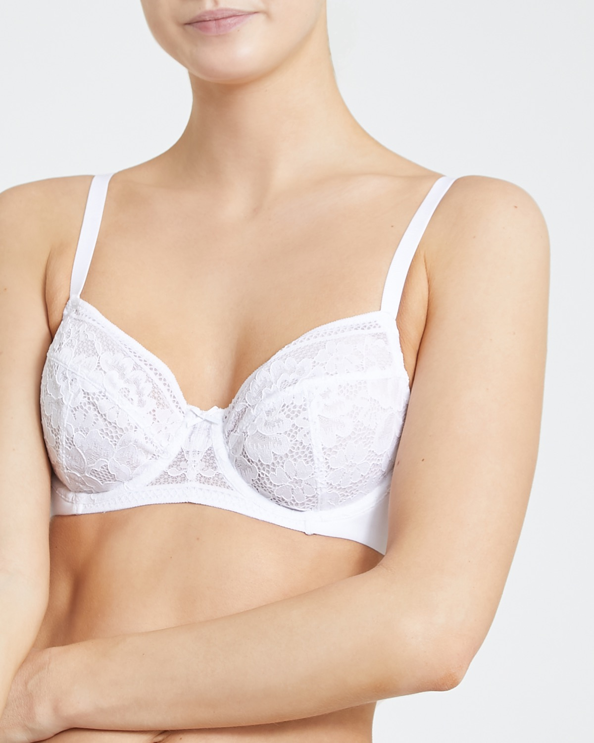 Cotton Lace Non Padded Bra thumbnail