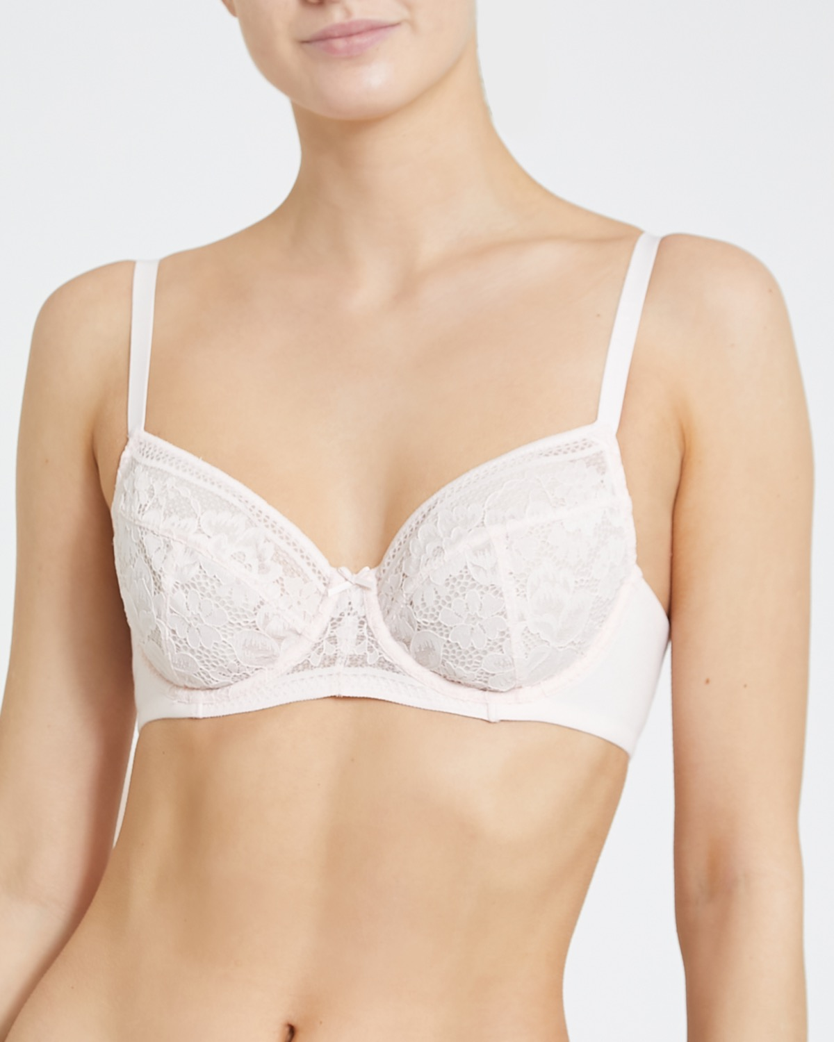 Cotton Lace Non Padded Bra