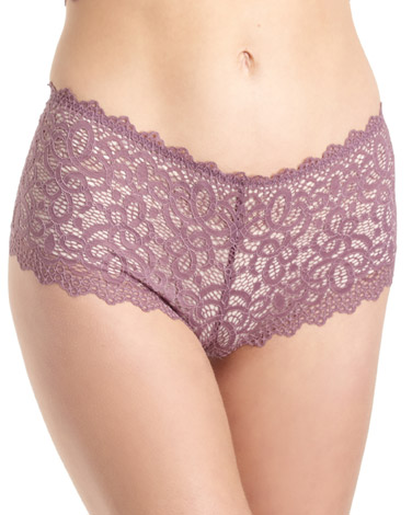 plum Crochet Shorts