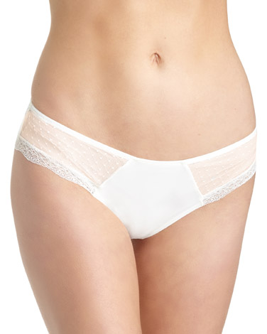 ivory Lace Trim Briefs