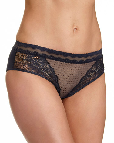 grey-nude Lace Shorty Briefs