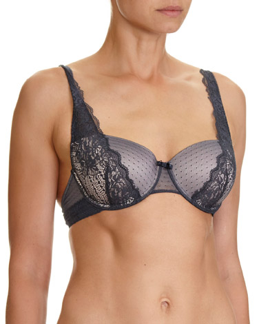 grey-nude High Apex Lace Balcony Bra