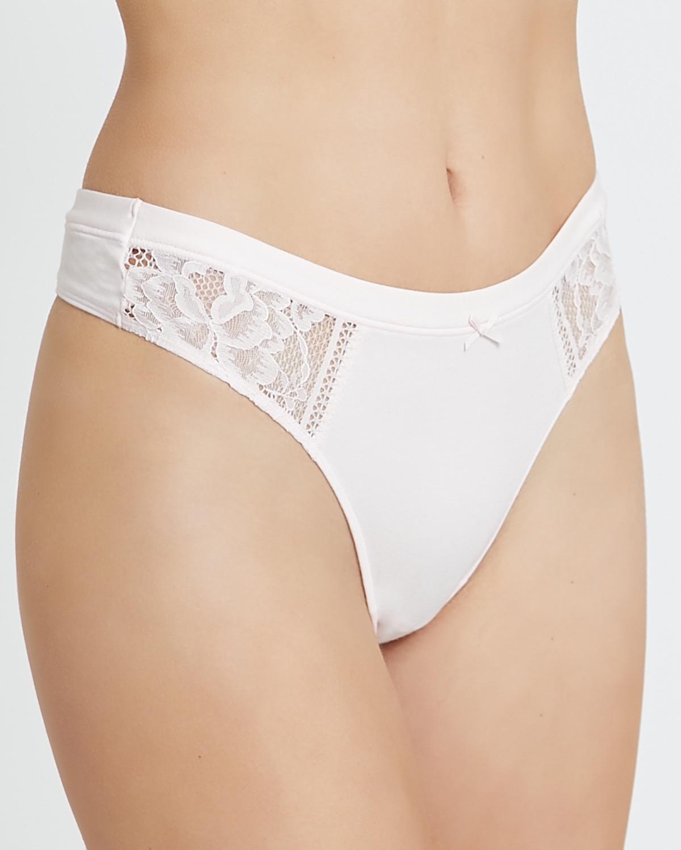Cotton Lace Thong