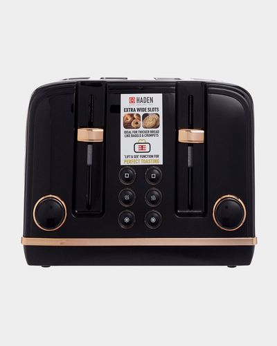 Haden Black And Rose Gold Toaster