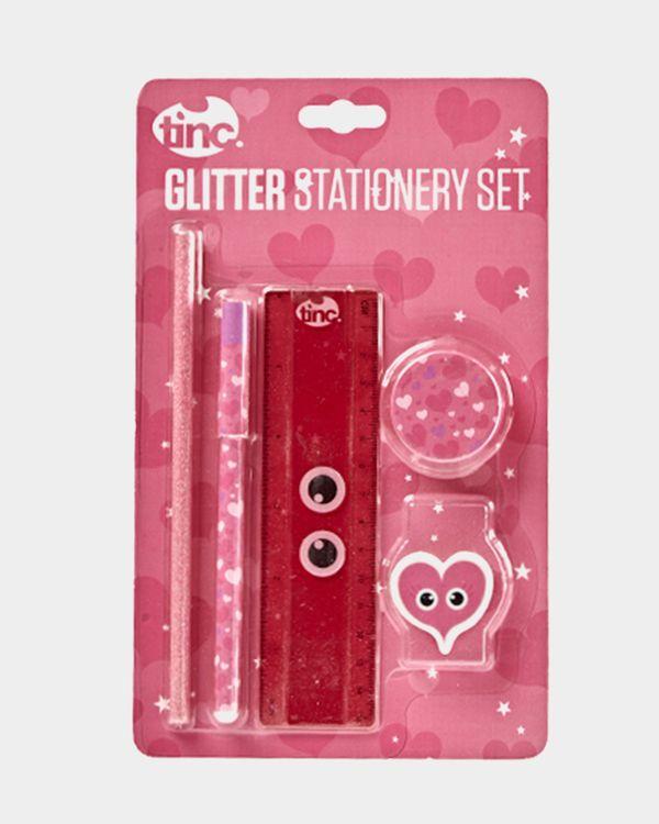 Glitter Stationery Gift Set - Metallic Rose