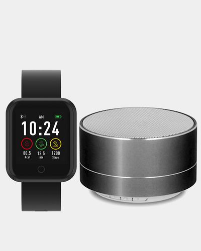 Forever Smartwatch SW-300 & PBS-100 Bluetooth Speaker Black