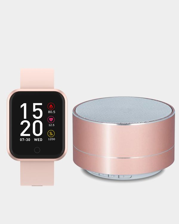 Forever Smartwatch SW-300 & PBS-100 Bluetooth Speaker Gold
