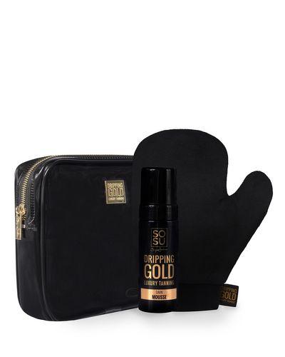 SOSU Dripping Gold Perfect Pair Dark  Luxury Tanning Mousse Gift Set