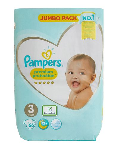 Pampers Premium Protection Jumbo Size 3: 66 Nappies