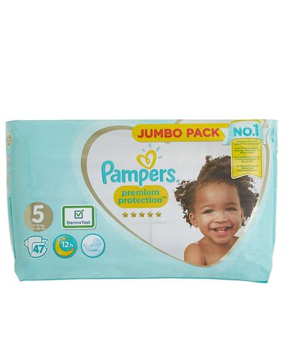 Pampers Premium Protection Jumbo Size 5: 47 Nappies