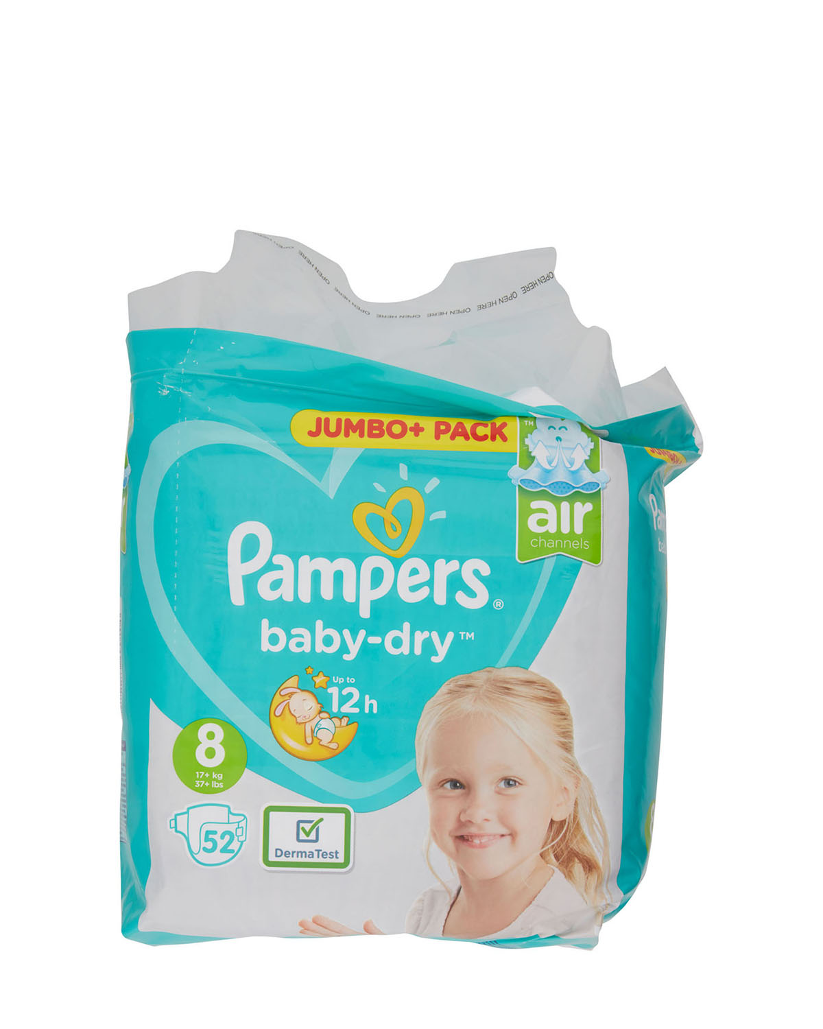 Pampers Baby Dry Size 8 Jumbo Plus - 52 Nappies thumbnail