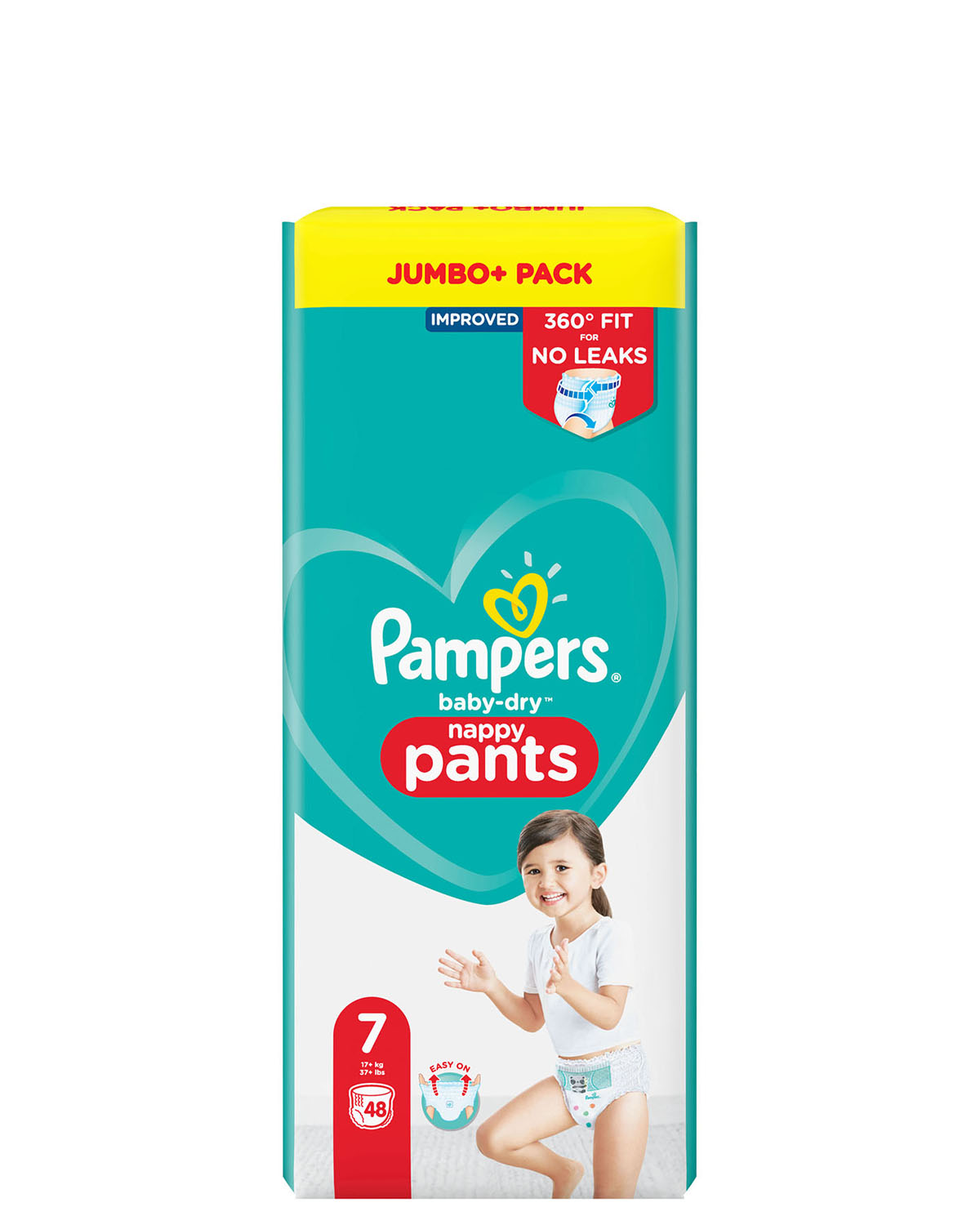 Pampers Baby Dry Pants Size: 7 48 Nappies Jumbo Pack
