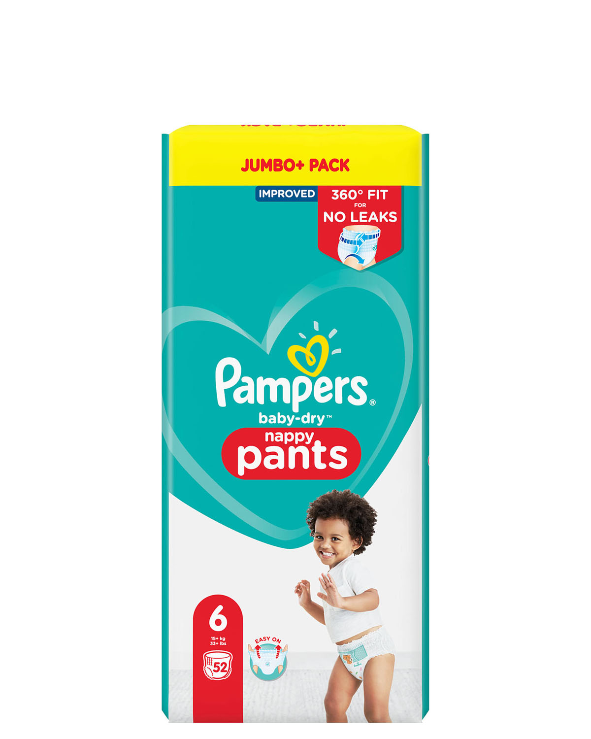 Pampers Baby Dry Pants Jumbo Cube Pack Size: 6 - 52 Nappies