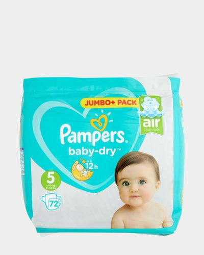 Pampers Baby Dry Jumbo Plus Size: 5 - 72 Nappies thumbnail