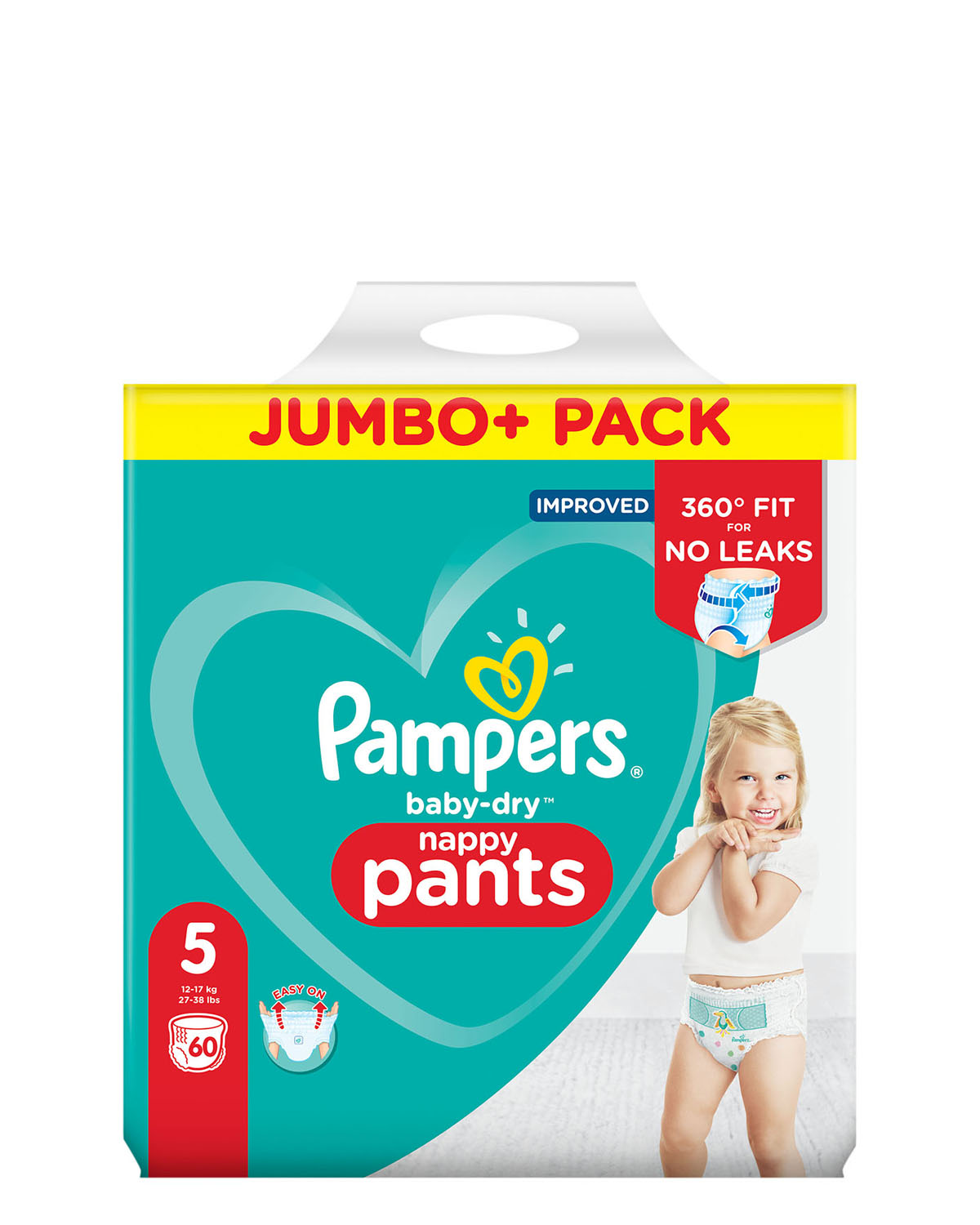 Pampers Baby Dry Pants Size: 5 Jumbo Pack - 60 Nappies thumbnail