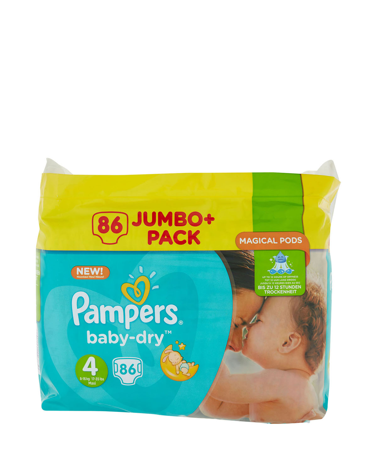 Pack 86 Nappies Pampers Baby Dry Size 4 Jumbo