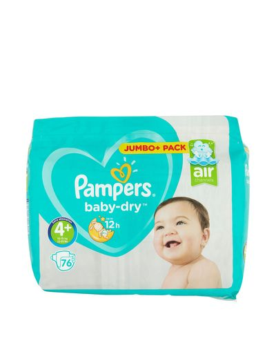 Pampers Baby Dry Size: 4 Plus Jumbo Pack - 76 Nappies thumbnail