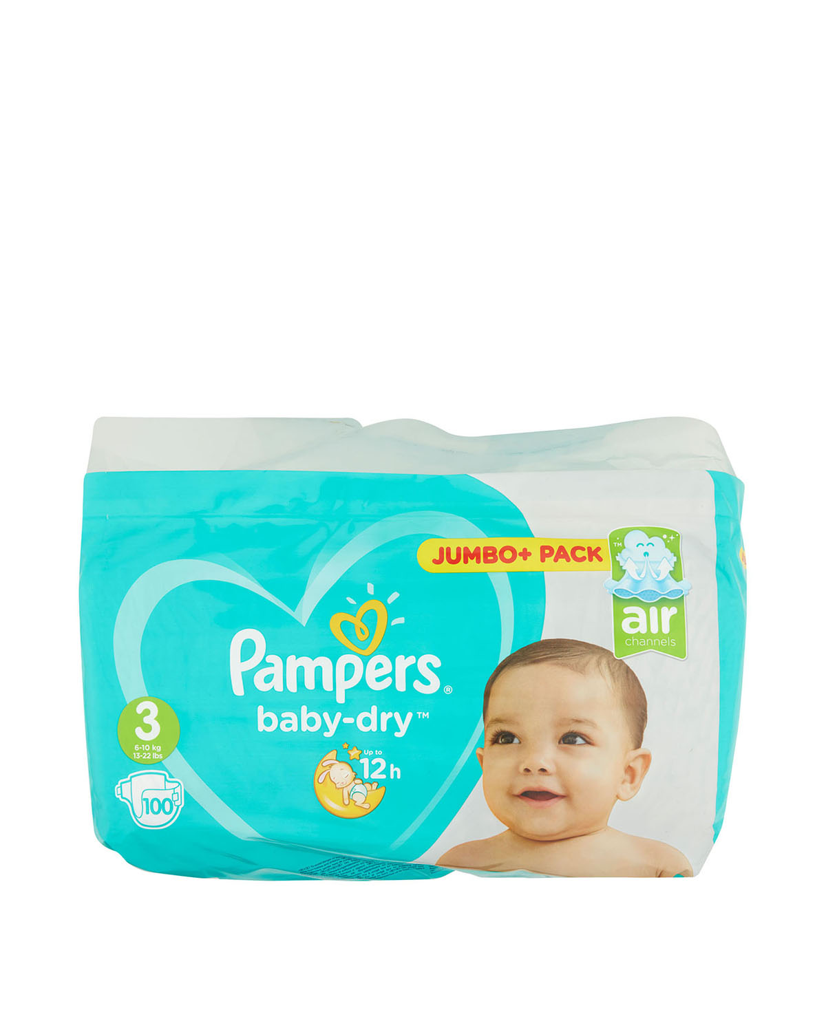 Pampers Baby Dry Size: 3 Jumbo Plus Pack - 100 Nappies
