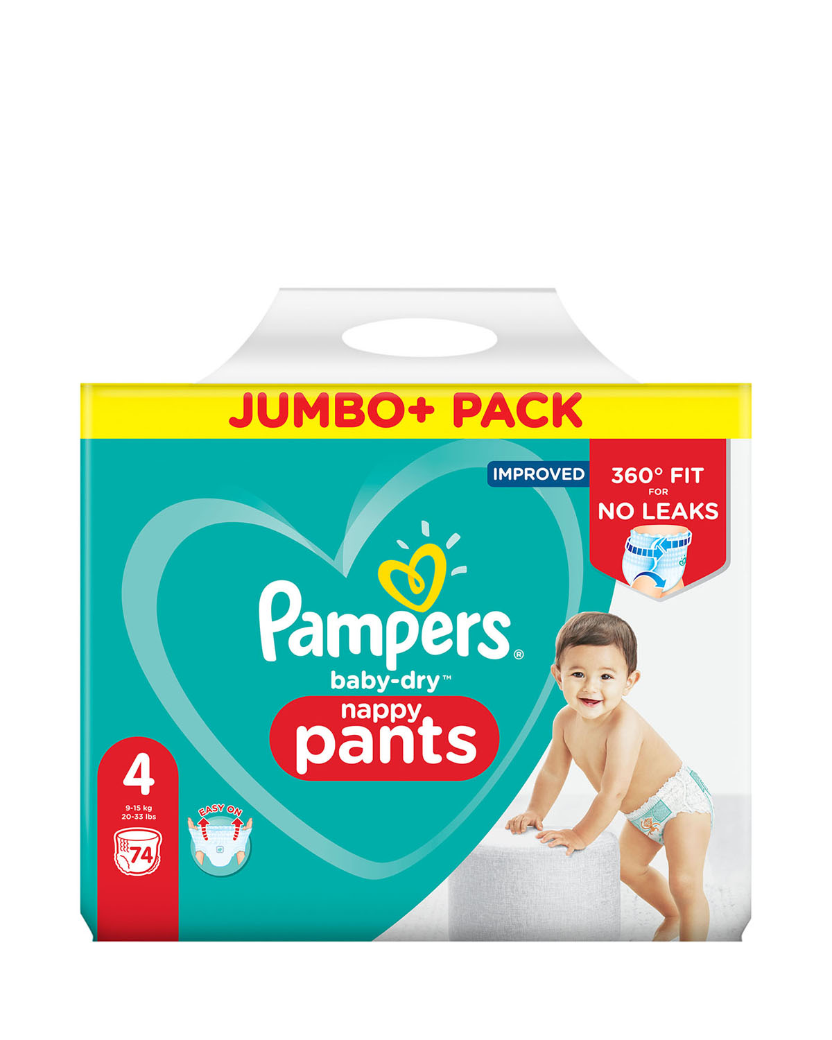Pampers Baby Dry Nappy Pants Size: 4 - 74 Nappies thumbnail