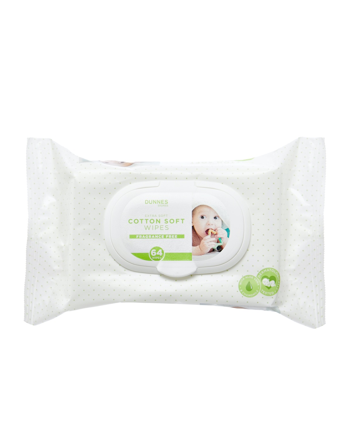 Dunnes Stores Baby Wipes Fragrance Free - Pack Of 64