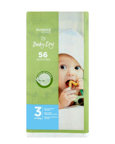 Dunnes Stores Baby-Dry Nappies S3 - Pack Of 56