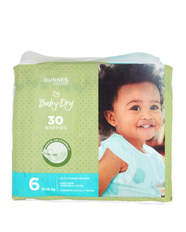 Dunnes Stores Baby-Dry Nappies S6 - Pack Of 30