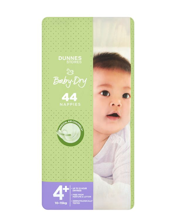 Dunnes Stores Baby-Dry Nappies S4+ - Pack Of 44