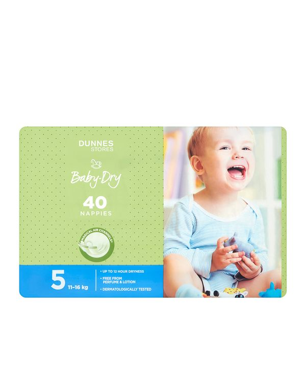 Dunnes Stores Baby-Dry Nappies S5 - Pack Of 40