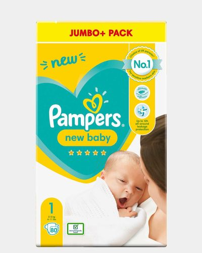 Pampers New baby Size 1 Jumbo - Pack Of 80
