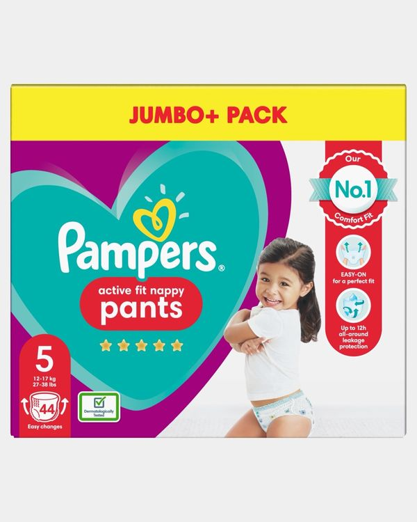 Pampers Active Fit Pants Size 5 Jumbo Nappies - Pack Of 44