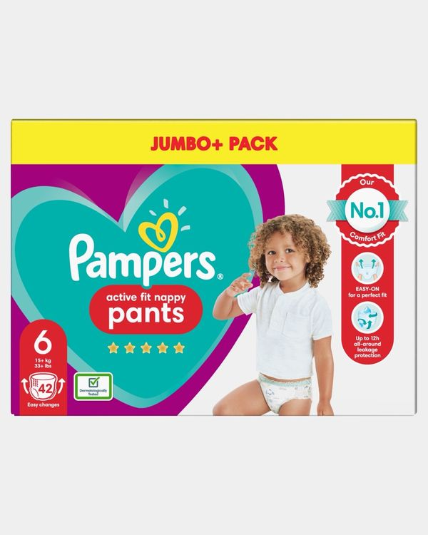 Pampers Active Fit Pants Size 6 Jumbo Nappies - Pack Of 42